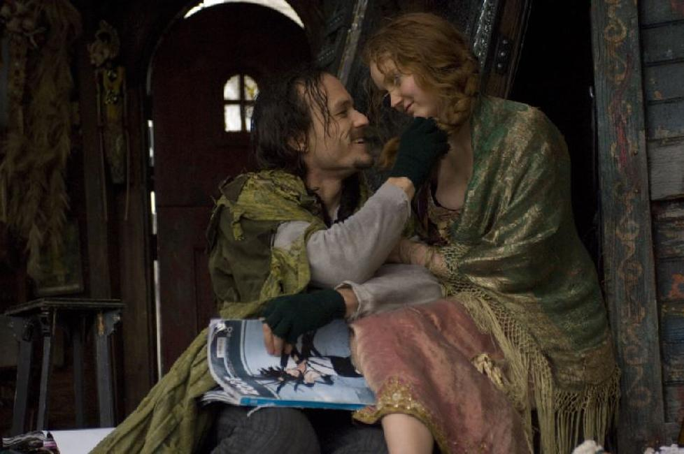 Heath Ledger as Tony and Lily Cole as Valentina in