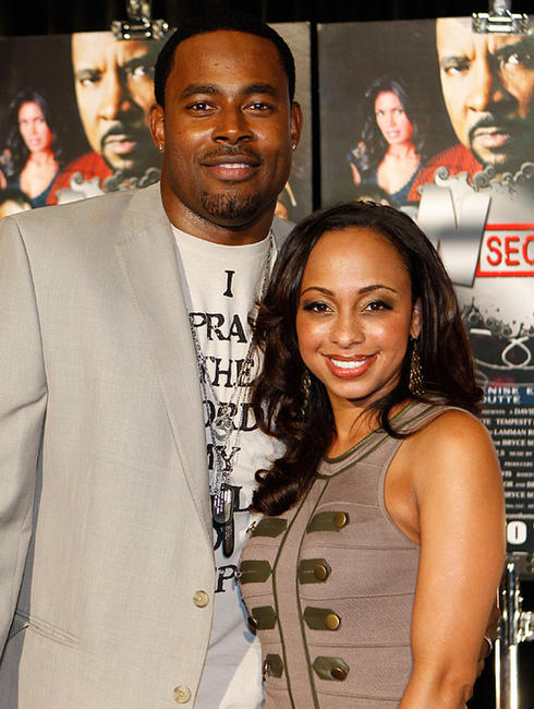 Lamman Rucker and Caryn Ward at the premiere of