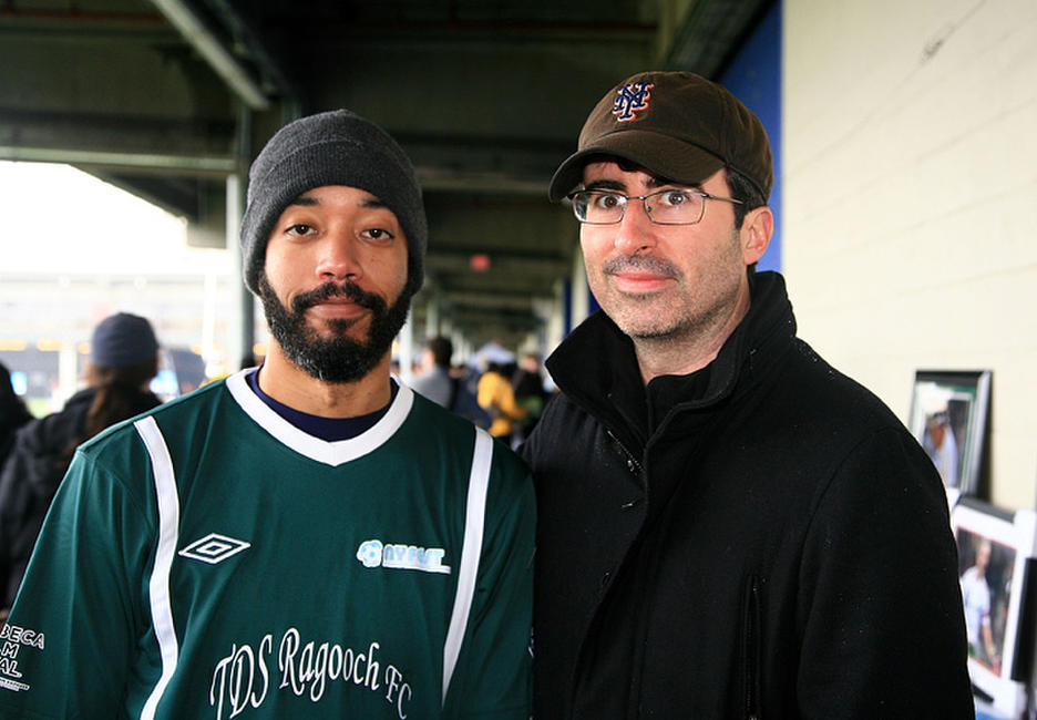Wyatt Cenac and John Oliver at the NYFEST during the 2011 Tribeca Film Festival.
