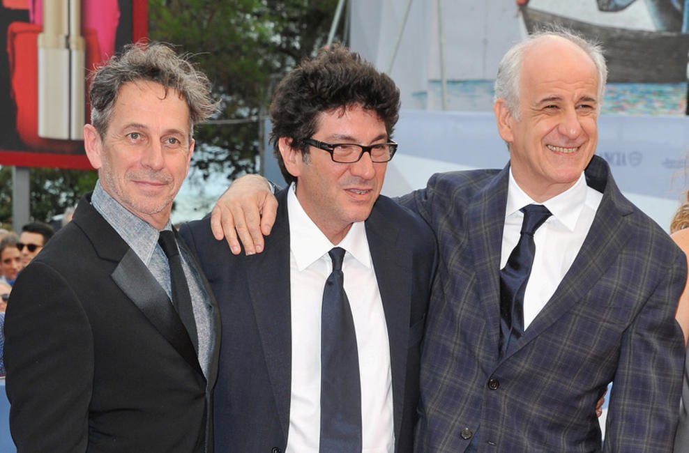 Alfredo Castro, director Daniele Cipri and Toni Servillo at the premiere of