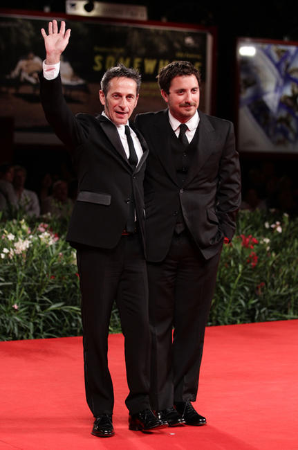 Alfredo Castro and director Pablo Larrain at the premiere of