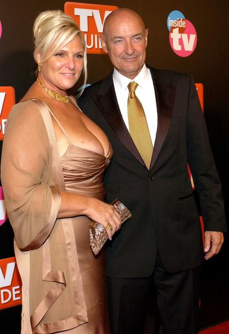 Terry O'Quinn and Guest at the TV Guide & Inside TV 2005 Emmy after party.