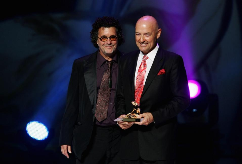 Terry O'Quinn and Jack Bender at the 2007 Monte Carlo Television Festival ceremony awards.