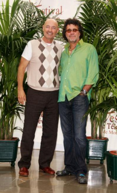 Terry O'Quinn and Jack Bender at the photocall promoting the television serie