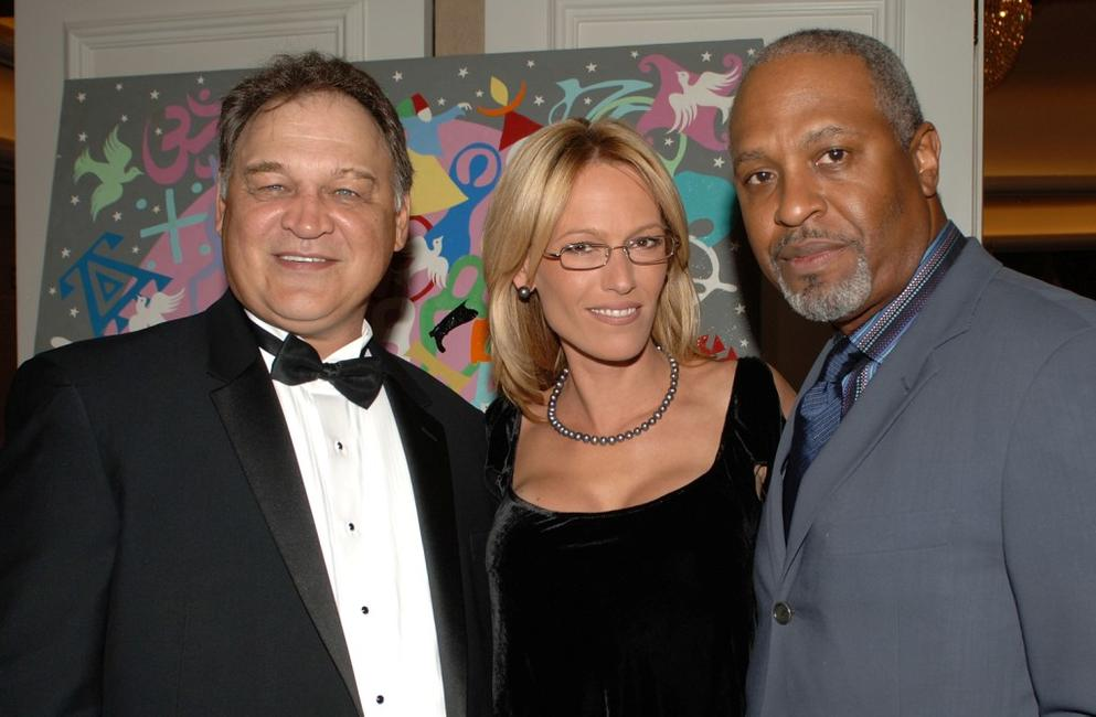 Ed O'Ross, Sam Phillips and James Pickens Jr. pose at the reception for MMPA's 13th Annual Diversity Awards.