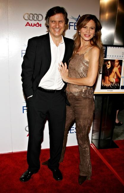 Director Lasse Hallstrom and Lena Olin at the