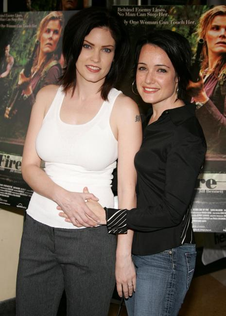 Jill Bennett and Jamie Sher at the premiere of