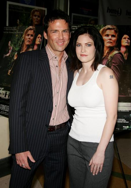 Jill Bennett and David Millbern at the premiere of