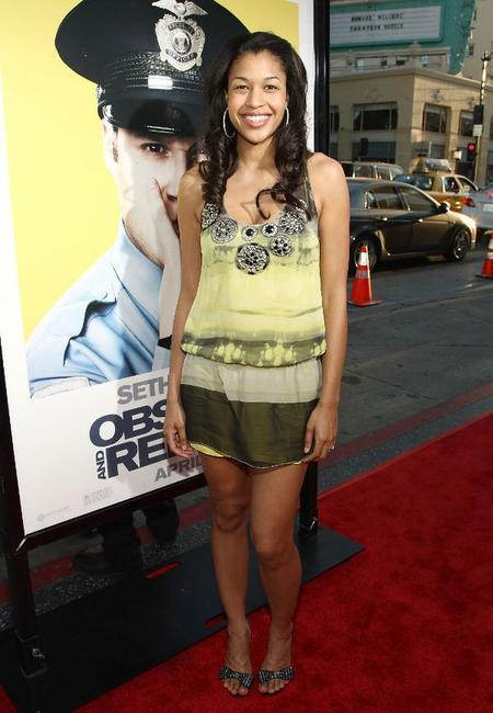 Kali Hawk at the premiere of