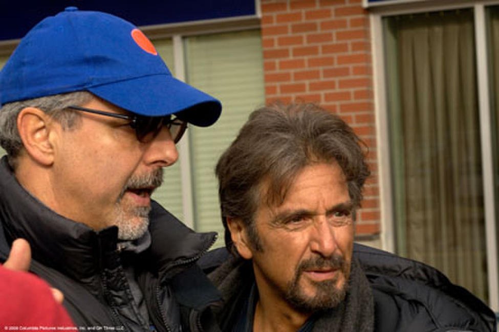 Director Jon Avnet and Al Pacino on the set of