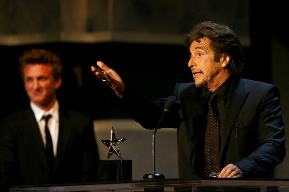 Sean Penn presents the life achievement award to Al Pacino during the 35th afi Life Achievement Award.