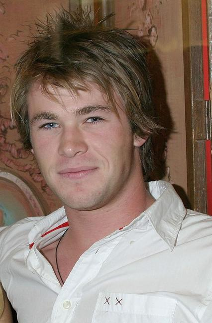 Chris Hemsworth at the launch of La Senza Ultimate Lingerie.