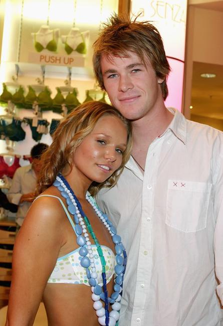 Nickyn Rendall and Chris Hemsworth at the Launch of La Senza Ultimate Lingerie.