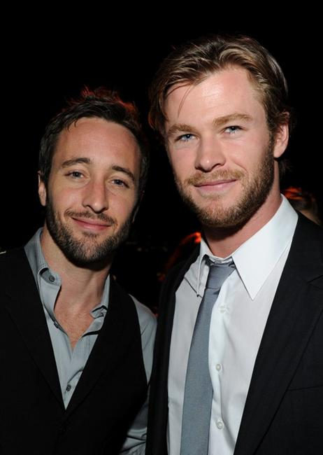 Alex O' Loughlin and Chris Hemsworth at the Australians In Film's 2010 Breakthrough Awards.