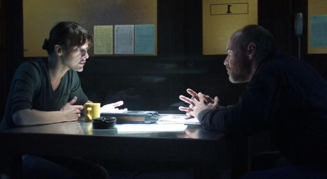 Milla Jovovich as Dr. Abigail Tyler and Will Patton as Sheriff August in