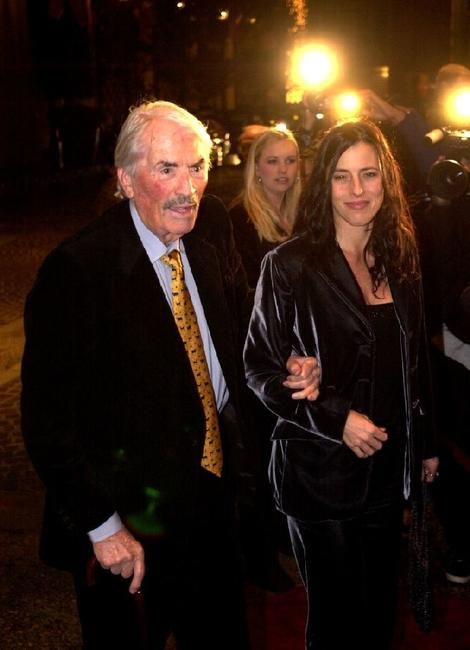 Gregory Peck and daughter Cecilia at the Gregory Peck Readings Series Gala.