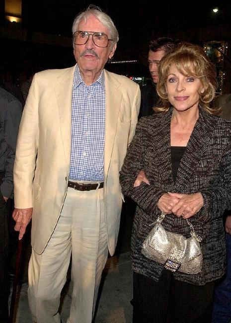 Gregory Peck and his wife Veronique Passani at the premiere of
