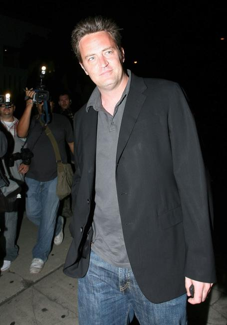 Matthew Perry at the Dolce's Five Year Anniversary.