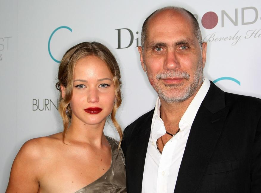 Jennifer Lawrence and Guillermo Arriaga at the premiere of