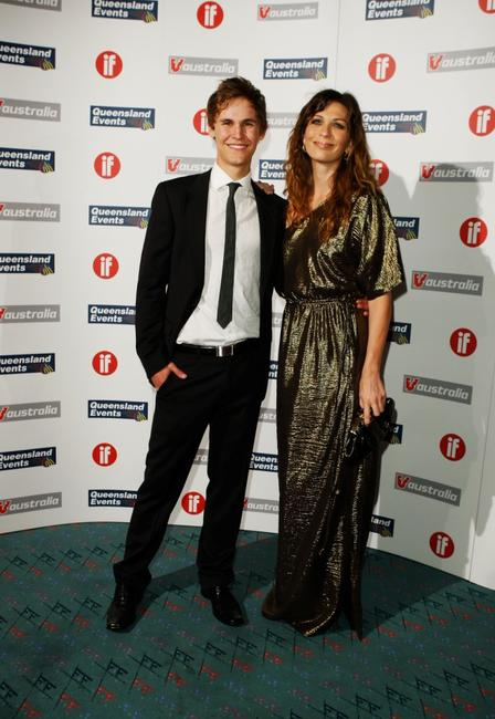 Rhys Wakefield and Elissa Down at the Inside Film Awards.