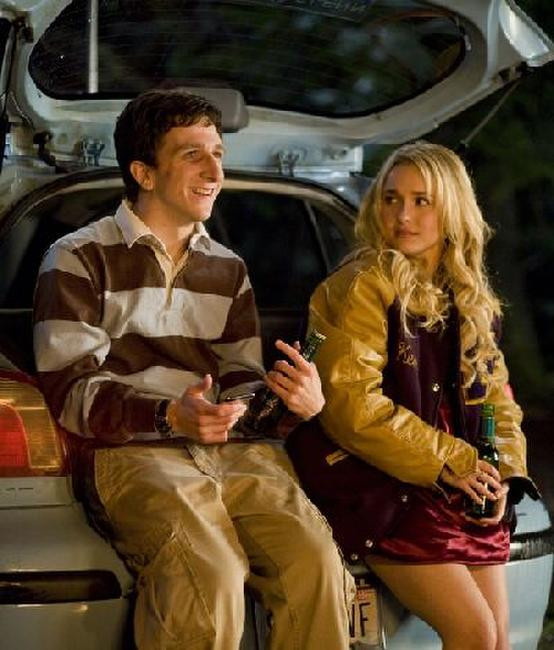 Hayden Panettiere as Beth Cooper and Paul Rust as Denis Cooverman in