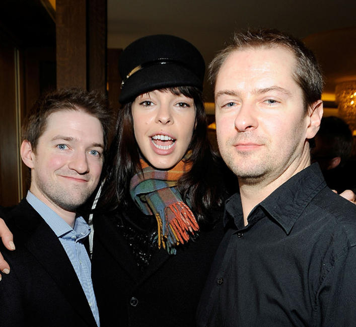 Composer Stephen Barton, Pollyanna McIntosh and director/writer Stuart Hazeldine at the UK Film Council US Post Oscars Brunch in California.