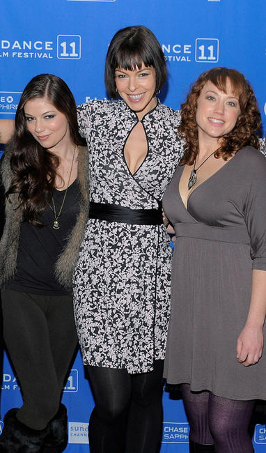 Carlee Baker, Pollyanna McIntosh and Lauren Petre at the premiere of