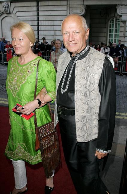 Steven Berkoff and guest at the premiere of