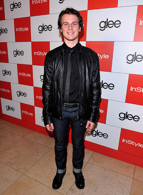 Jonathan Groff at the InStyle and 20th Century Fox's party celebrating Glee's 4 Golden Globe.