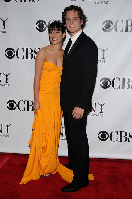 Lea Michele and Jonathan Groff at the 64th Annual Tony Awards in New York.