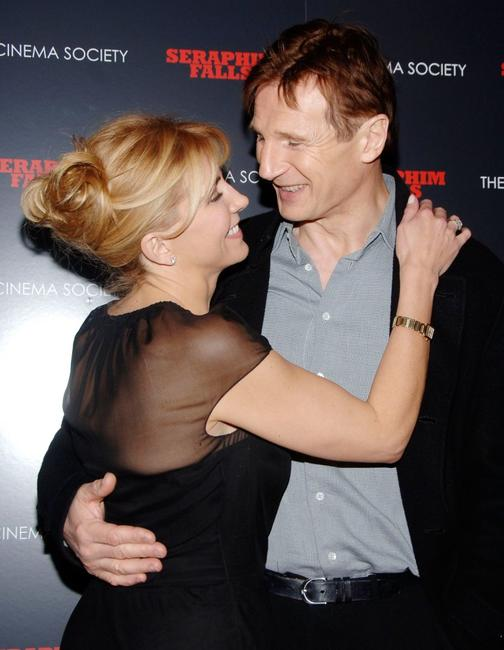 Natasha Richardson and Liam Neeson at the Cinema Society after party for