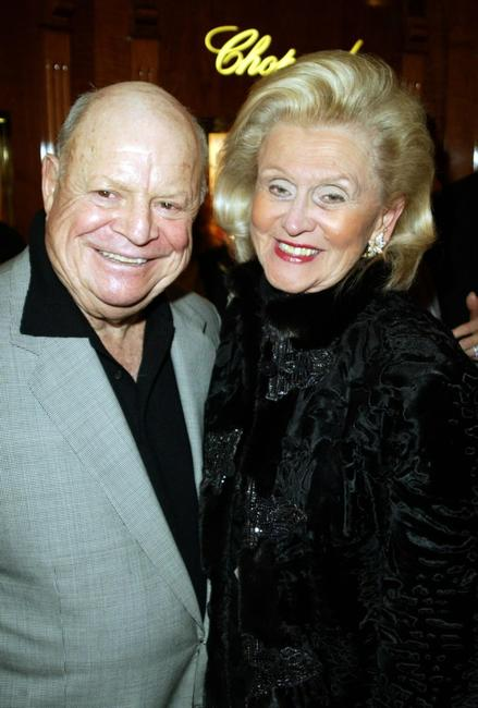 Don Rickles and Barbara Davis at the Chopard party for Jackie Collins new Book