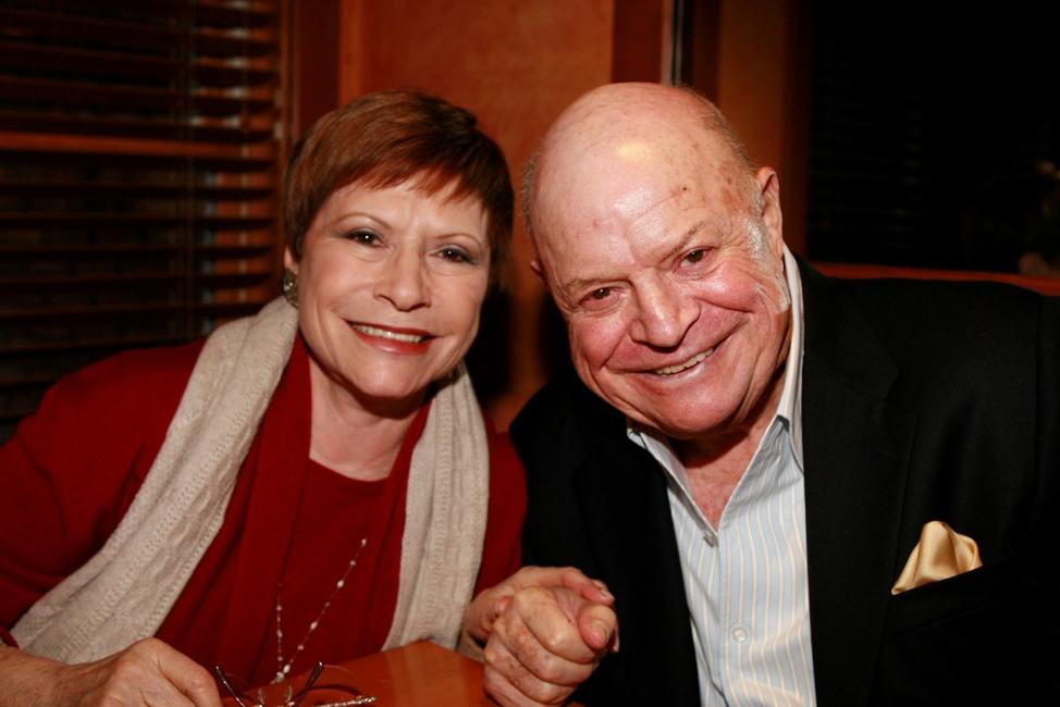 Don Rickles and Barbara at the Hollywood Reporter reception saluting Don Rickles and John Landis.