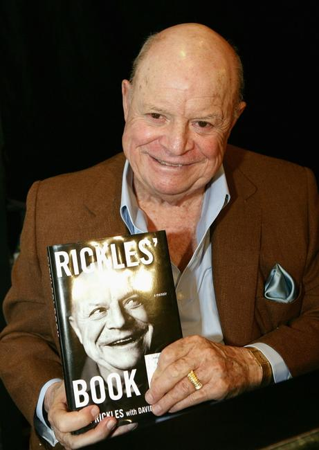 Don Rickles poses before signing copies of his new book ''Rickle's Book''.