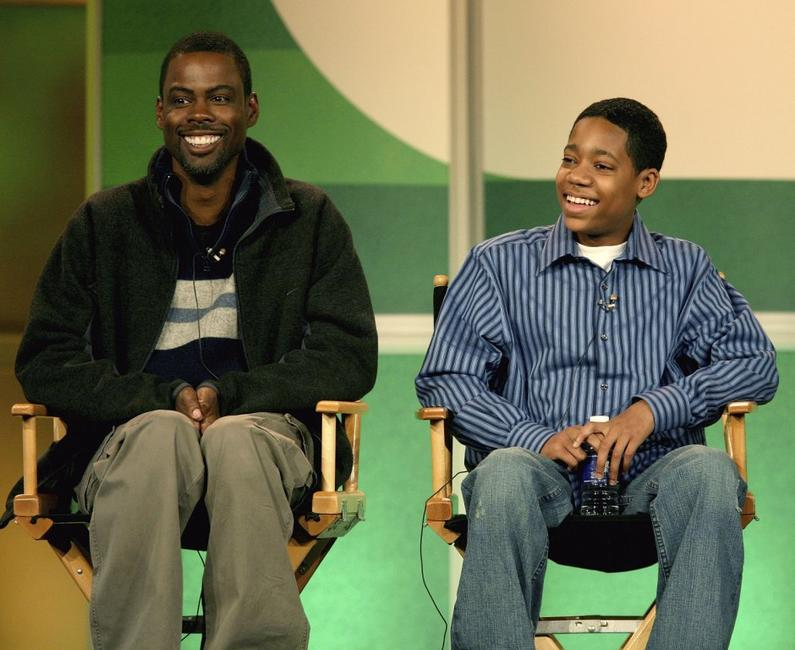 Chris Rock and actor Tyler James Williams at the 2007 Winter Television Critics Association Press Tour for The CW.
