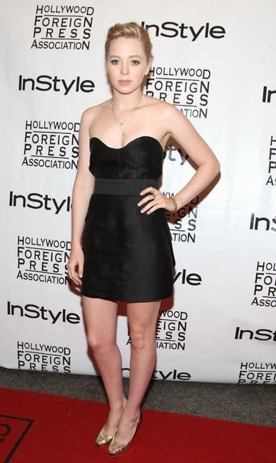 Portia Doubleday at the InStyle and HFPA Toronto Film Festival party.