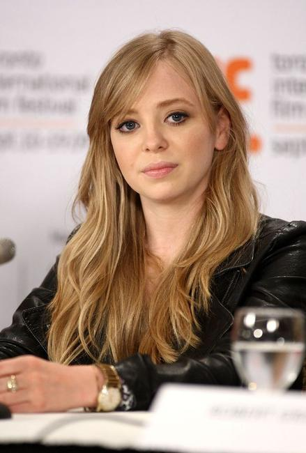 Portia Doubleday at the press conference of