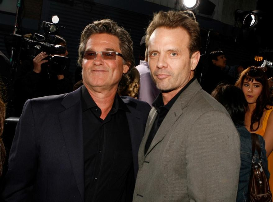 Michael Biehn and Kurt Russell at the Los Angeles premiere of