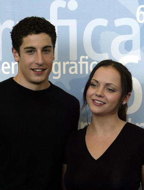 Jason Biggs and Christina Ricci at the 60th international Venice Film Festival.