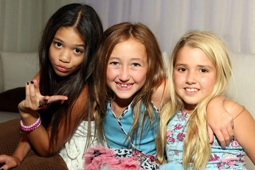 Sophie Texeira, Noah Cyrus and Emily Grace Reaves at the 2009 Totally Texty Teen Choice Awards Pre-Party.