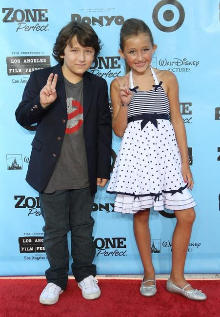 Frankie Jonas and Noah Cyrus at the premiere of