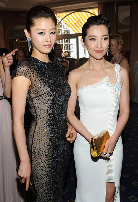 Gianna Jun and Bing Bing Li at the cocktail reception of