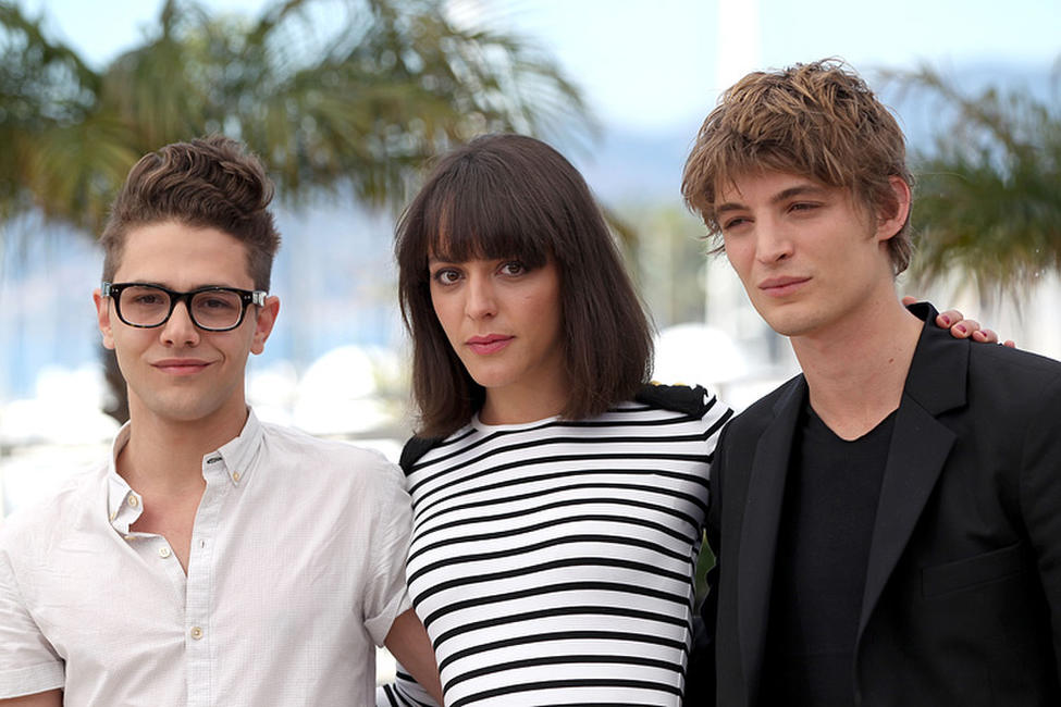 Xavier Dolan, Monia Chokri and Niels Schneider at the photocall of