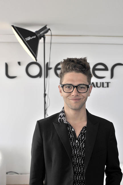 Xavier Dolan at the Renault lounge during the 63rd Cannes Film Festival.