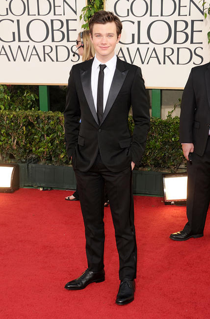 Chris Colfer at the 68th Annual Golden Globe Awards in California.