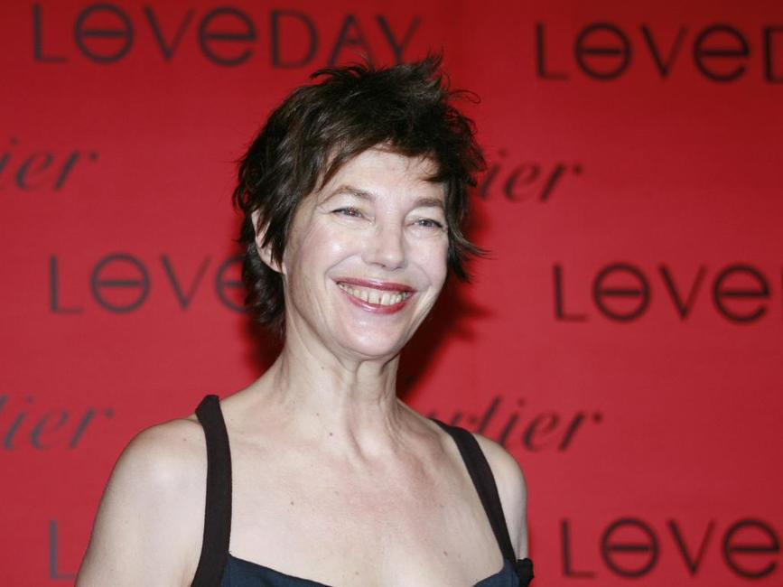 Jane Birkin at an charity reception of French jeweler Cartier's Loveday promotion.
