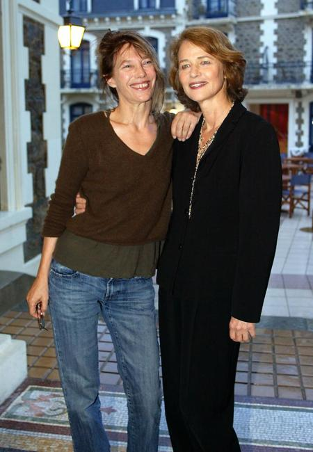 Jane Birkin and Charlotte Rampling at the Dinard British Film Festival.