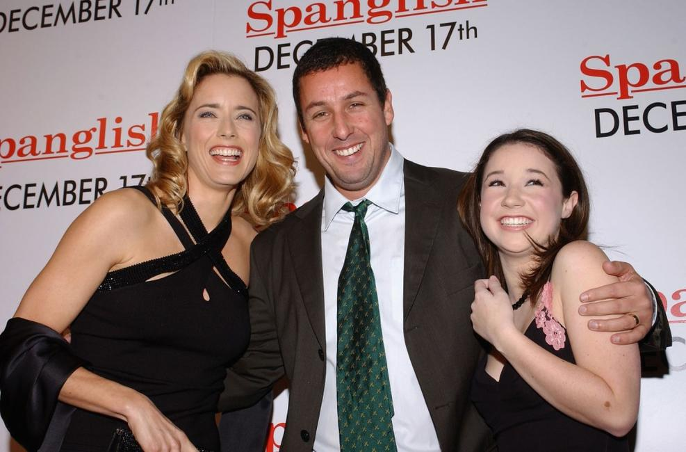 Tea Leoni, Adam Sandler and Sarah Steele at the Los Angeles premiere of
