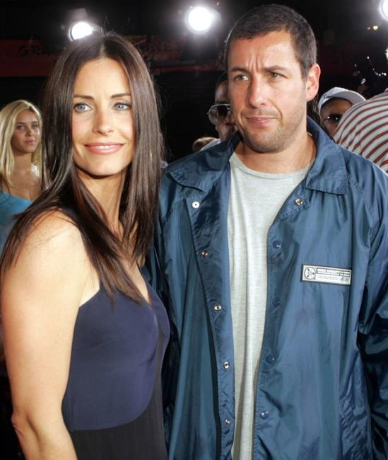 Courtney Cox-Arquette and Adam Sandler at the premiere of