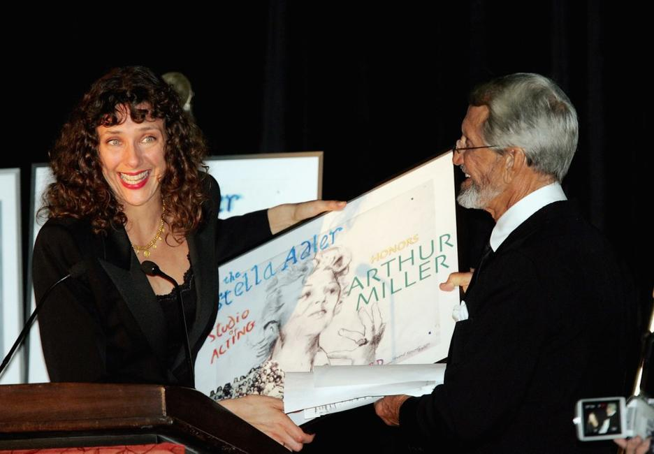 Roy Scheider and Rebecca Miller Day Lewis accepts award onbehalf of her father Arthur Miles at the Stella by Starlight gala at the Pierre hotel.